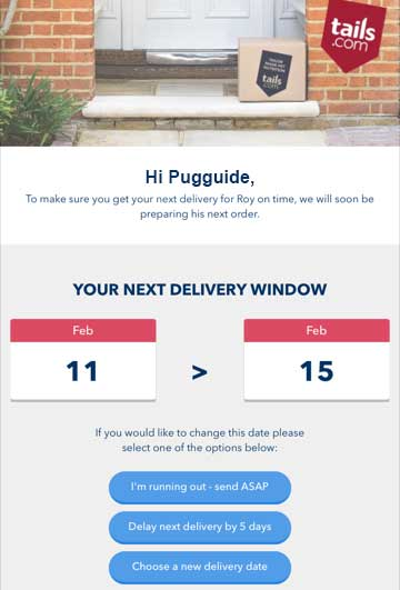 Tails.com Delivery Updates